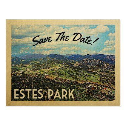 Estes Park Save The Date Colorado Postcard - vintage wedding gifts ideas personalize diy unique style