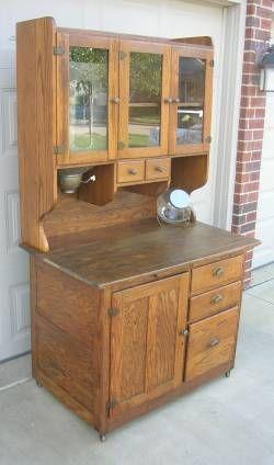 Bakers Cabinet With Flour Bin | ... Oak Hoosier Style Bakers Cabinet With  Flour