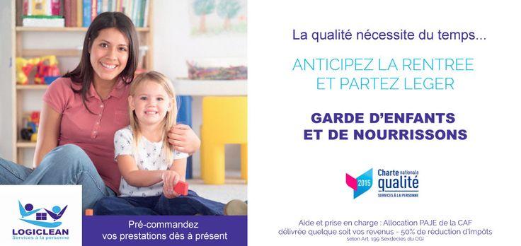 PREPAREZ LA RENTREE AVEC LOGICLEAN ! www.logiclean.eu #rentrée #gardedenfants #aideadomicile #gardenourrisson