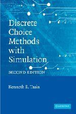 Discrete Choice Methods with Simulation by Kenneth E. Train. Save 5 Off!. $37.99. Publication: June 30, 2009. Publisher: Cambridge University Press; 2 edition (June 30, 2009)