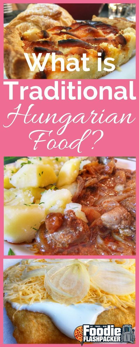 traditional Hungarian food is. Hungarians make use of what is seasonal and many of the dishes focus on meats, fresh vegetables, and dairy products.I also learned that many of the traditional dishes have influences on them such as Jewish and Austrian cuisine.
