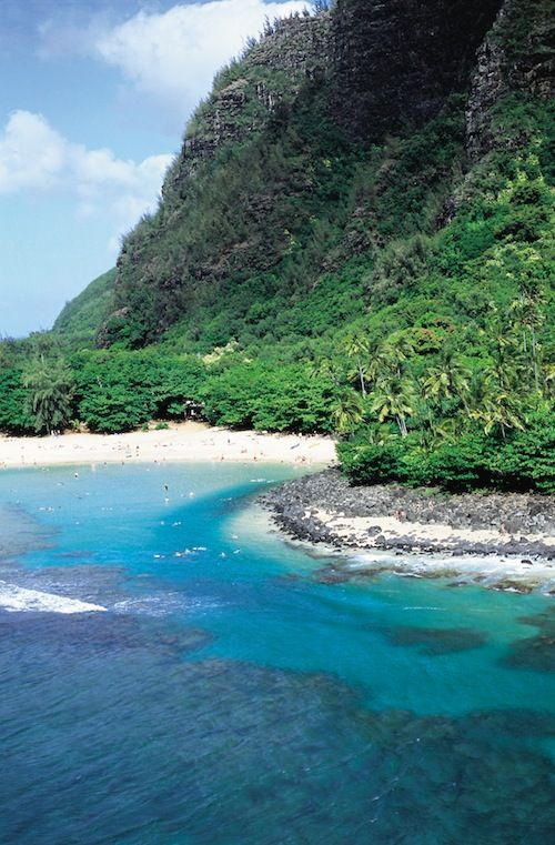 Ke'e Beach - one of my top five beaches in my travels located at the very western tip of the north road on Kauai - west of Hanalai Bay. = paradise - snorkeling is legendary.