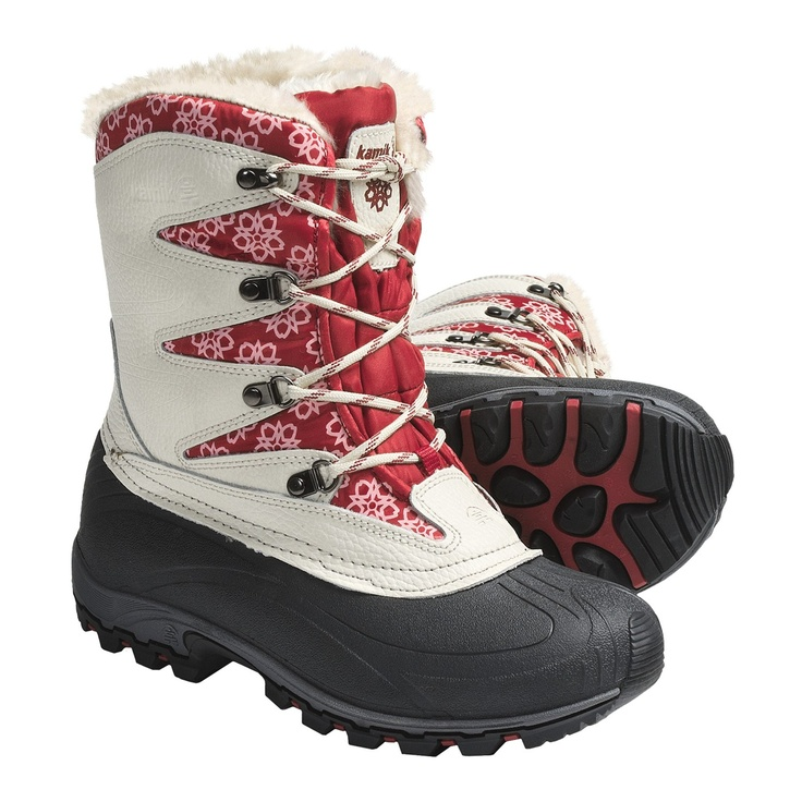 Kamik Sunapee Pac Boots - Waterproof, Insulated (For Women) in Cream (found on sierra trading post)