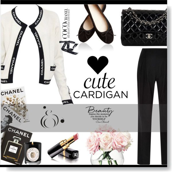 Cute Coco Cardi... by desert-belle on Polyvore featuring Chanel, Rosie Assoulin, LSA International, Guerlain, Assouline Publishing and mycardi