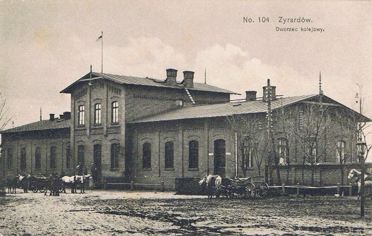 Dworzec kolejowy, Żyrardów - 1910 rok, stare zdjęcia