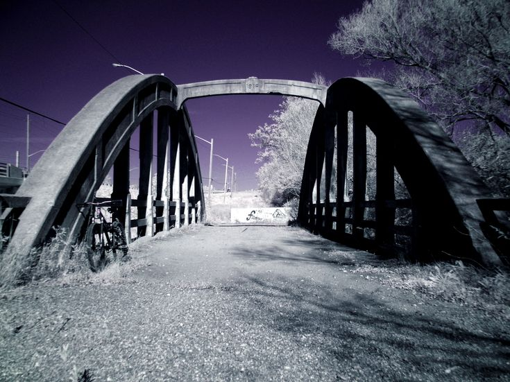 A throwback in time. Bridge was constructed in 1916.