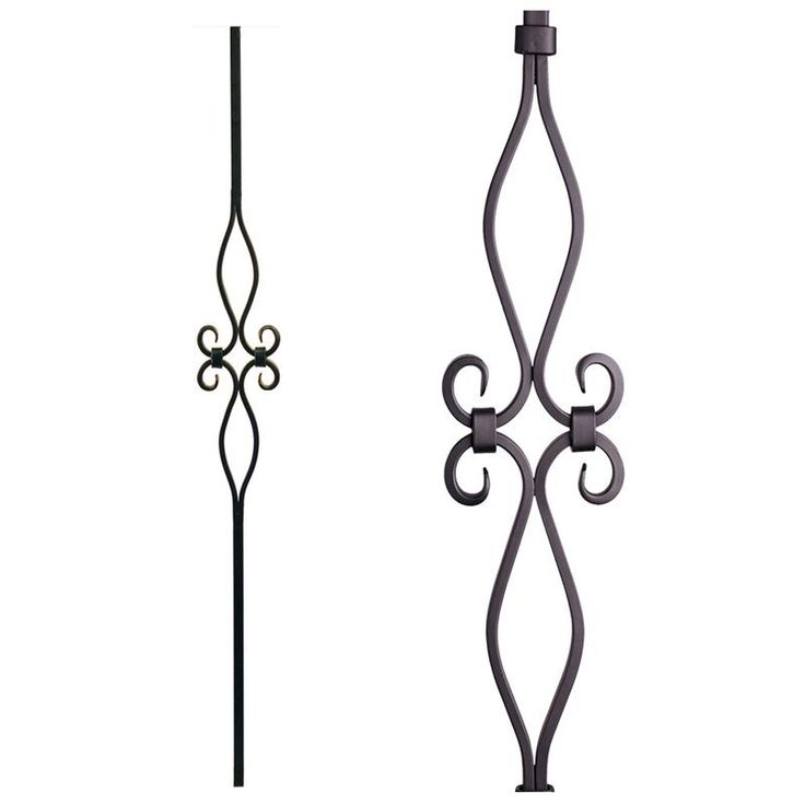 Best 16 8 9 Hollow Diamond And Oval Spirals Iron Baluster Cheap Stair Parts Iron Balusters 400 x 300