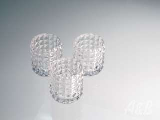 Hobnail Votives - use these to run down the center of your table to create a candle-lit table runner.