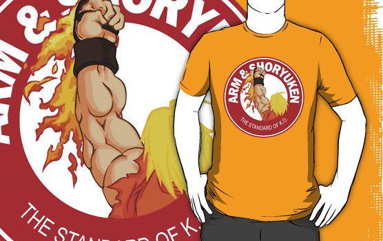 Arm & Shoryuken. The Standard of K.O. shirts