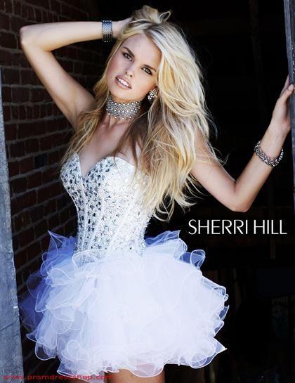 Sherri Hill Short Dress2925 at Prom Dress Shop | Prom Dresses