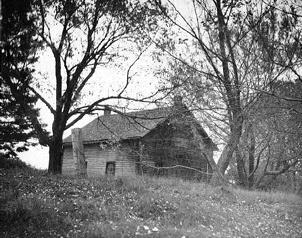 Photo of the Leveridge homestead.