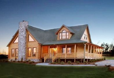 Log homes with wrap around porch for Full wrap around porch log homes