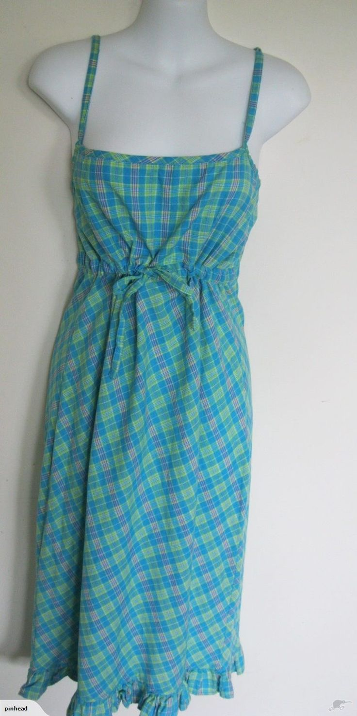 SO SWEET PLAID COTTON BOHO CORSET DRESS WITH FRILL | Trade Me