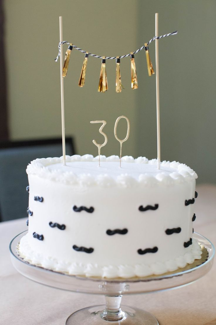 A manly 30th birthday party with images cake for