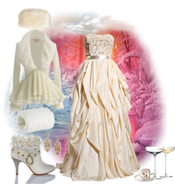 """Winter Wedding by Sheniq"" by sheniq on Polyvore"