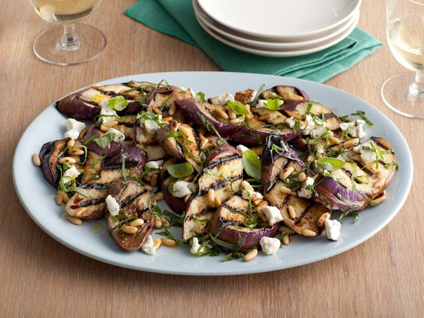 http://www.foodnetwork.com/recipes/giada-de-laurentiis/grilled-eggplant-and-goat-cheese-salad-recipe/index.html: Food Network, Giada De Laurentiis, Eggplants Recipes, Salad Recipes, Goats Chee Salad, Goats Cheese Salad, Eggplants Salad, Goat Cheese Salad, Grilled Eggplants