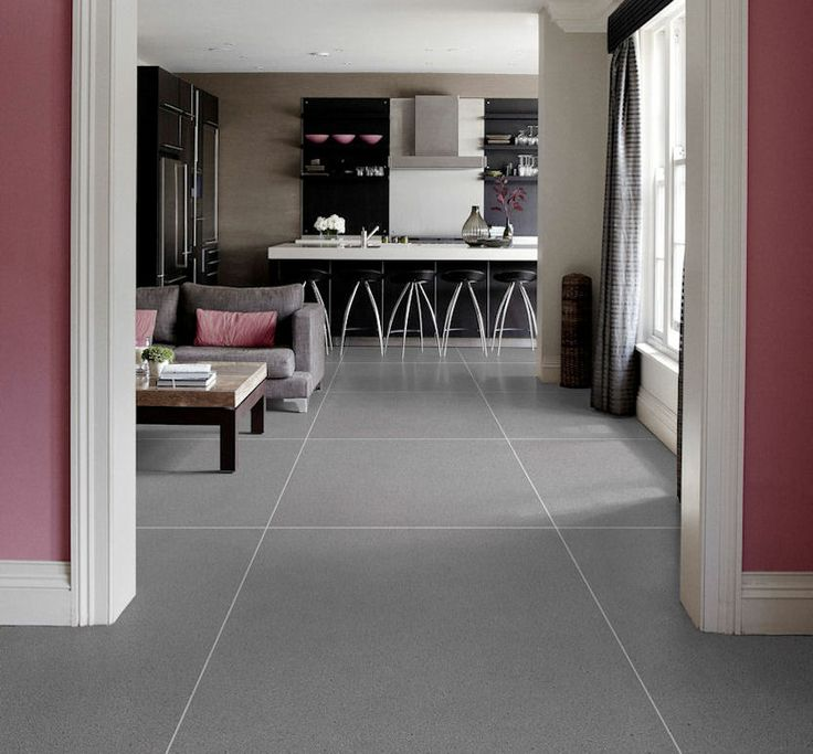 mandarin stone breccia grey matt porcelain tiles in puce room