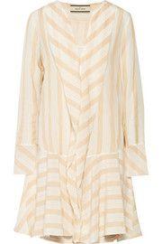 By Malene Birger Astree vestito a strisce di seta-crepe