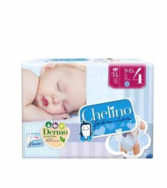 CHELINO Pañales talla 4  / 34 unidades    Precio Devuelving:   6,53€  Precio en tienda:   8,21 €