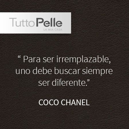 #Chanel #Frase #TuttoPelle