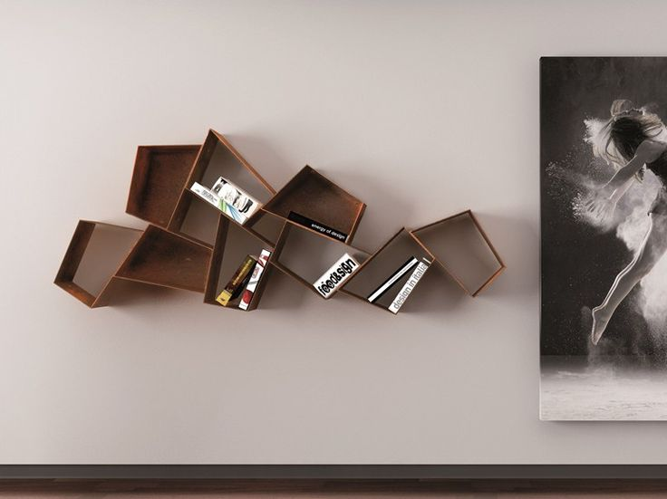 Floating metal bookcase W SU LINE etimodesign Collection by Ronda Design | design Diego Collareda