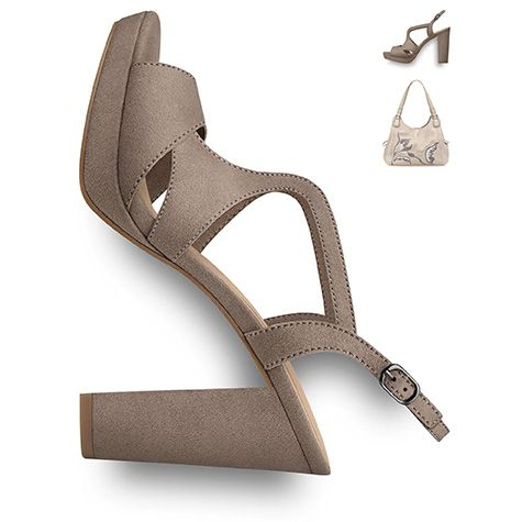 #Shoes #sandals #2016, #suede #look, #heels #tamaris