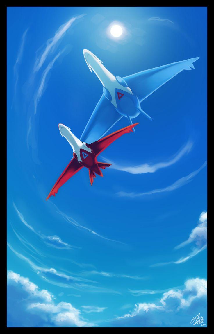 Latios and Latias Legendary Pokemon Fan Art (Planes by Galahawk.deviantart.com on @DeviantArt)