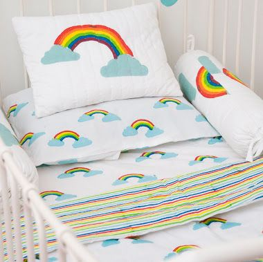 Lulu & Nat | Nursery Bedding | Toddler Bedding | Rainbow Cot/ Cot Bed Duvet Cover Set