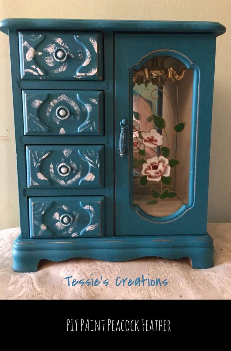 This was painted by Tessie's Creations located in Ottawa, Ontario featuring PIY Furniture Paint in Peacock Feather and Candy Floss. PIY Paint can be ordered online and delivered direct to your door in both Canada and the United States