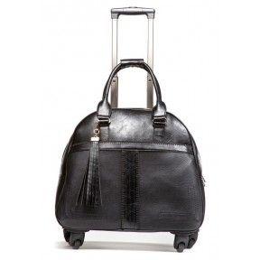 Hang Women's Rolling Laptop Bag - Boho Chic Black Trolley Bag - Rolling Laptop Bags - Women's - Laptop Bags