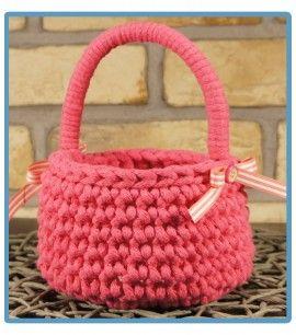 ręcznie robiony koszyk rebeka handmade ze sznurka bawełnianego