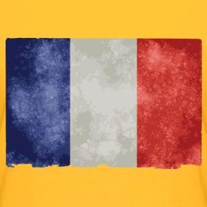 t shirt jaune femme drapeau français bleu blanc rouge - Tee shirt Femme, American Apparel