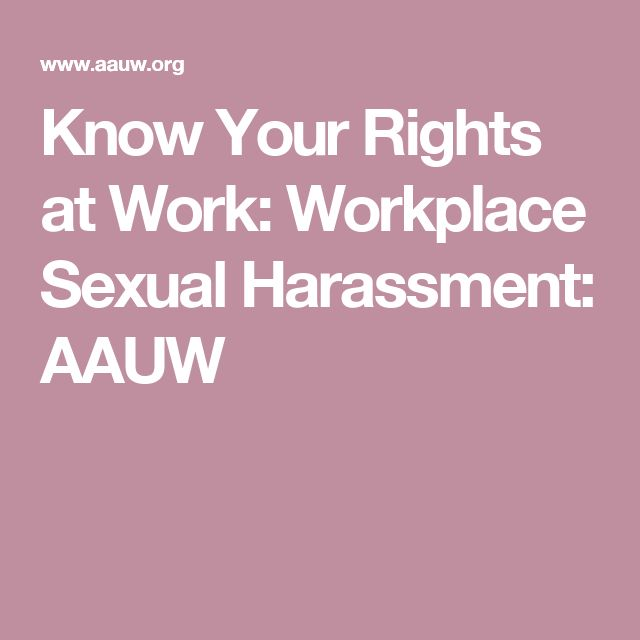 work discrimination publications know your rights sexual harassment