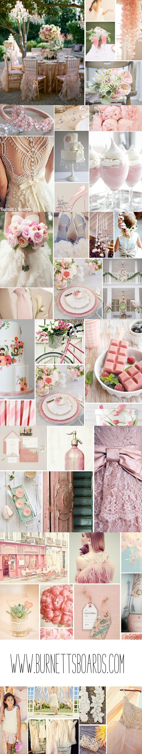 Light pink wedding inspiration from www.burenttsboards.com