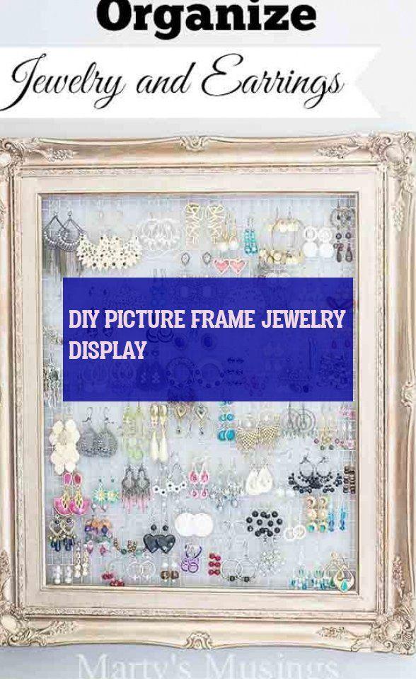 diy picture frame jewelry display # diy-bilderrahmen-schmuck-display # affichage…