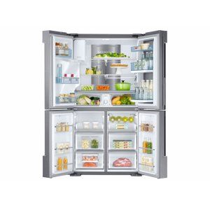 RF28K9380SR in Stainless Steel by Samsung in Mobile, AL - 28 cu. ft. 4-Door Flex Food Showcase Refrigerator with FlexZone
