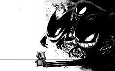 pokemon black gengar haunter ghastly artwork cubone 1920x1200 wallpaper