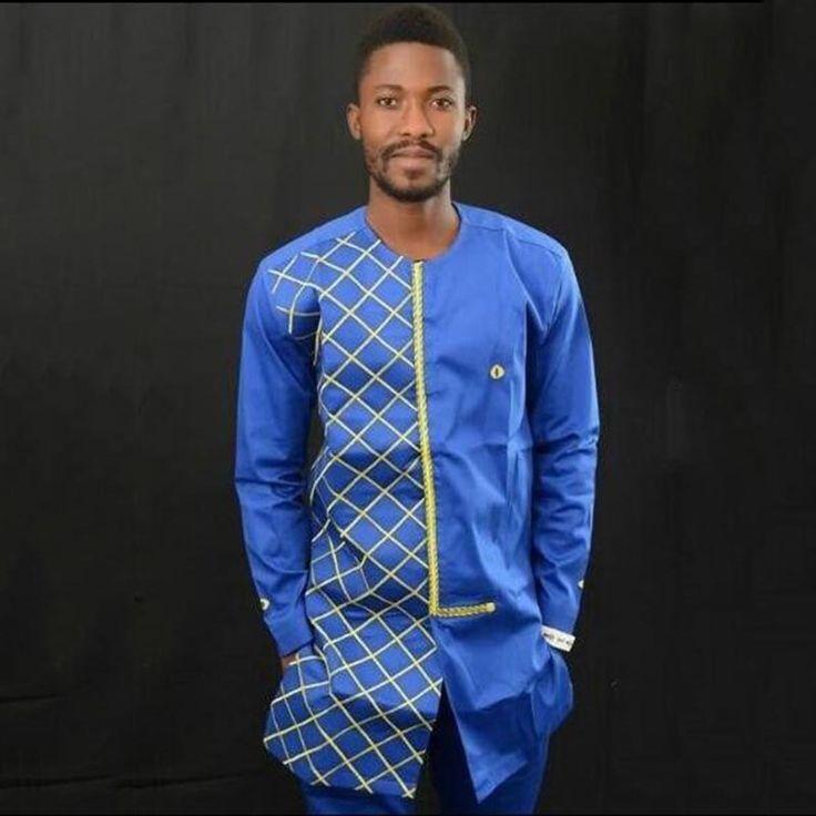 2017 African Dress Sub Das Belo Riche Dresses Hot Sale Pure Color Kasus Untuk Grain Putaran Kerah Rekreasi Kemeja lengan Panjang pria Pakaian