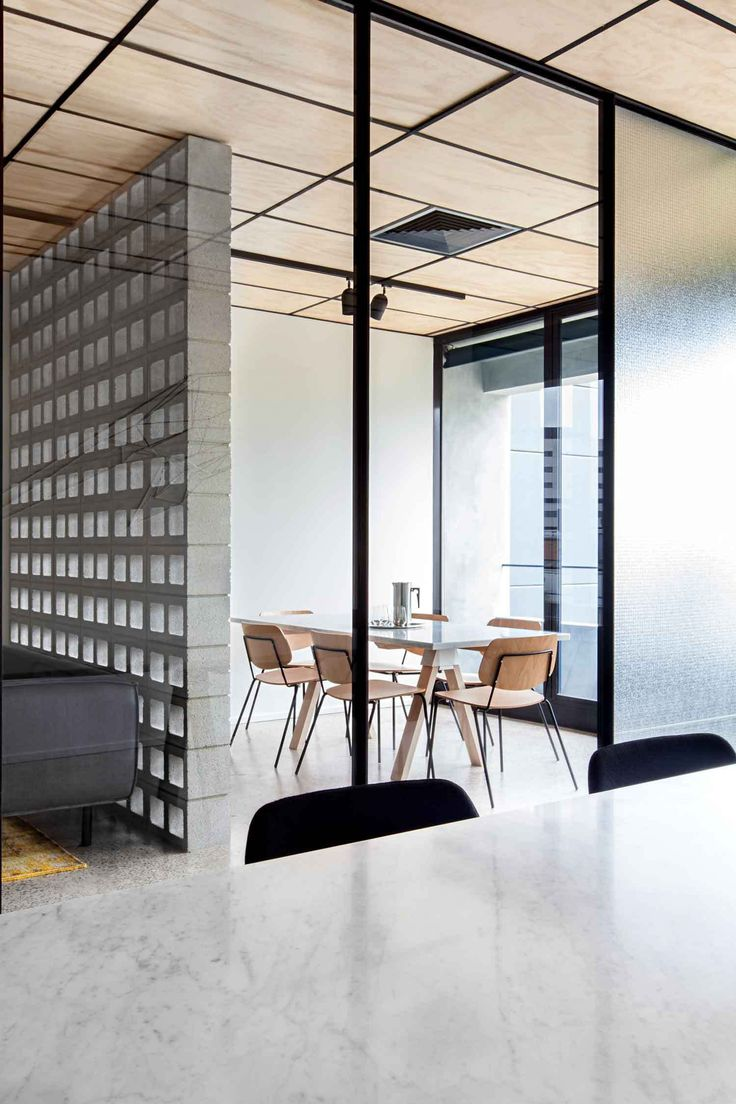 Rough brick wall panel semi private - Blackwood Street Bunker by Clare Cousins Architects / Shared Office Space in Melbourne