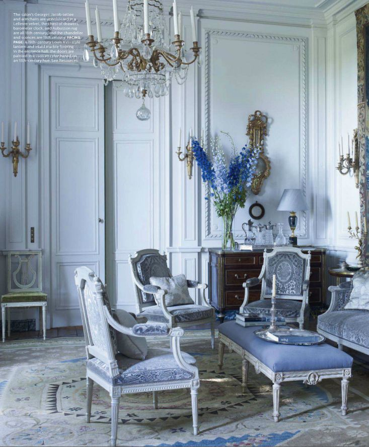 26 best paint color schemes french blue images on for A french touch salon
