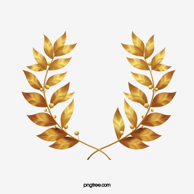 Golden Laurel Leaves Golden Lauryl Gold Leaf Png Transparent Clipart Image And Psd File For Free Download Laurel Leaves Leaf Clipart Golden Leaves