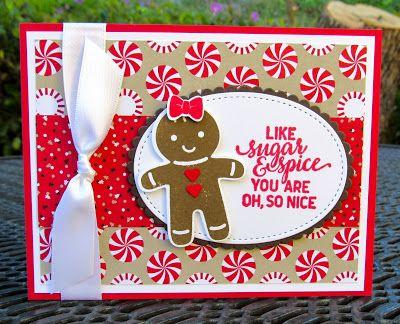 Krystal's Cards: Stampin' Up! Cookie-Cutter Gingerbread #stampinup #krystals_cards