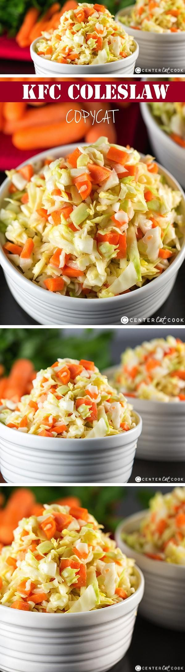 A KFC COLESLAW COPYCAT recipe! The dressing tastes almost identical to the original thanks to one key ingredient. You will be pelasantly surprised at how much this clone tastes like the original KFC Coleslaw.