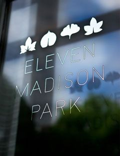 Eleven Madison Park - a member of Relais & Chateaux... one of our favorite dining experiences by Grand Chef Daniel Humm