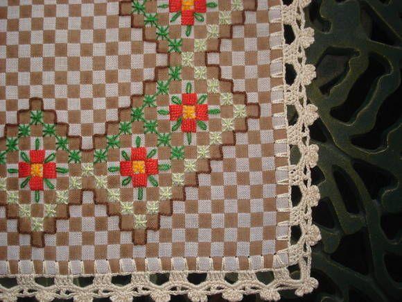 Toalha de bandeja xadrez   ARTE DOS FIOS   Elo7