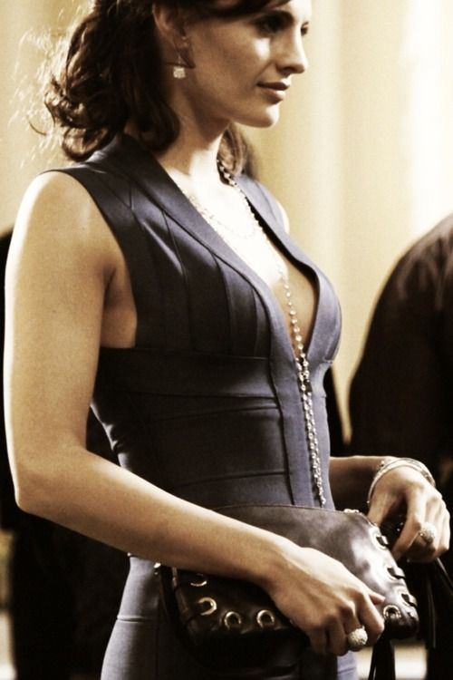 Stana Katic This is the Blue Herve Leger dress that started it all for me......extraordinary like the dedication