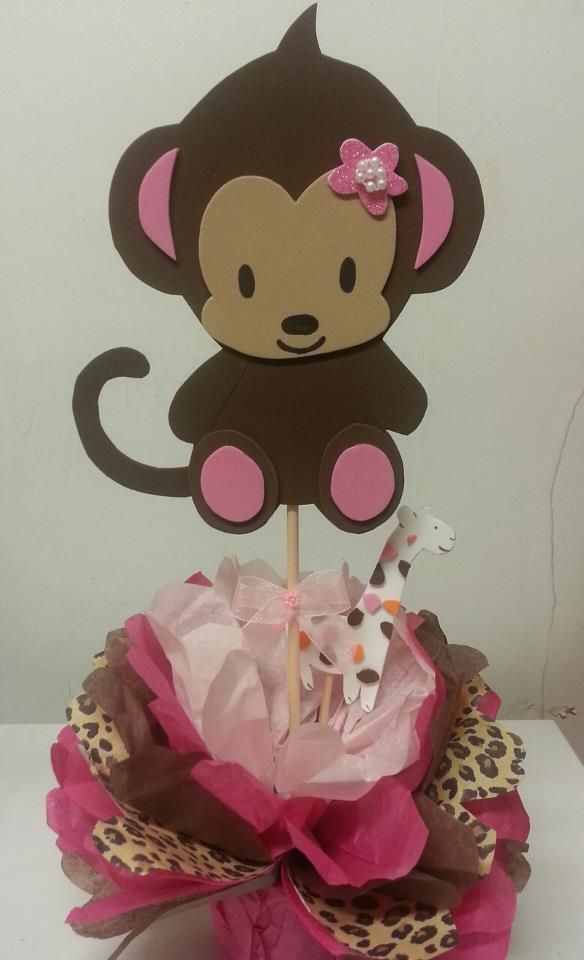 giraffe and monkey baby shower | BABY SHOWER THEME CENTERPIECES