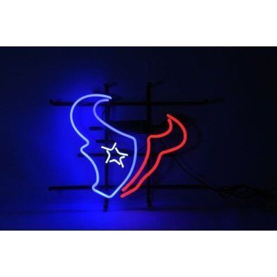 NFL Houston Texans Football Beer Bar Neon Light Sign Real Glass Tube 19''x15'' Handcrafted:Amazon:Home Improvement