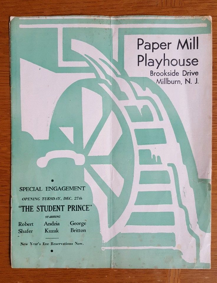 Vintage 1940's PAPER MILL PLAYHOUSE Theatre Program MILLBURN, NJ Merry Widow | eBay