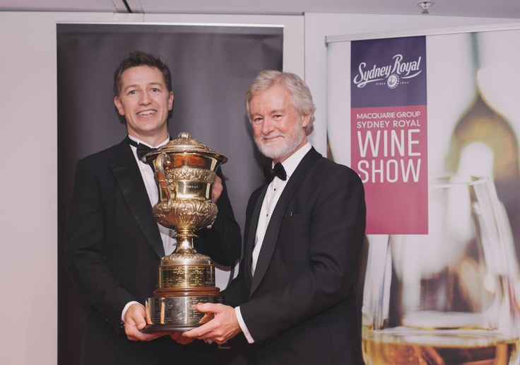 Winemaker Justin Purser with Rob Hirst, chairman Fine Wine Partners, after our 2011 Bin 1 Shiraz won The Fine Wine Partners Trophy for Australia's Wine of the Year 2013.